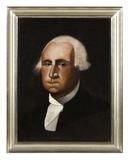 A very important portrait of George Washington, painted by Cyrus T.  Feury, a Michigan barber.