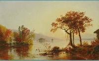 Jasper Francis Cropsey (1823-1900) Greenwood Lake, New Jersey Oil on canvas 12 x 20 inches Signed lower right, 1874