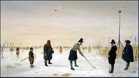 "Hendrick Avercamp's ""Colf Players on the Ice,"" Collection of Mrs.  Edward Speelman."