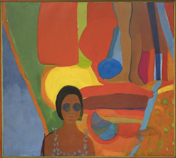Emma Amos, Baby, 1966, oil on canvas.  ©EMMA AMOS/COURTESY THE ARTIST AND RYAN LEE GALLERY, NEW YORK