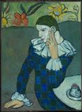 Pablo Picasso (Spanish, 1881–1973).  Seated Harlequin, 1901.  The Metropolitan Museum of Art, New York.  Purchase, Mr.  and Mrs.  John L.  Loeb Gift, 1960 (60.87).  © 2010 Estate of Pablo Picasso/Artists Rights Society (ARS), New York