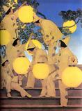 Maxfield Parrish, The Lantern Bearers, 1908.  Oil on canvas laid down on board, 40 x 32 in.  Photography by Dwight Primiano