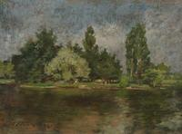 "Lot.  2 William Merritt Chase ""Poplar Lake"" at Aspire Auction"