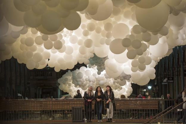 Charles Pétillon fills Covent Garden's Market Building with thousands of balloons for latest cultural commission