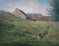 """Path through the Wheat,"" about 1867, by Jean-François Millet, French, 1814–1875 40 x 50.8 cm (15 3/4 x 20 in.) Pastel and black conté crayon on gray wove paper, Classification: Pastels Accession number: 17.1521 Gift of Quincy Adams Shaw through Quincy Adams Shaw, Jr., and Mrs.  Marian Shaw Haughton"