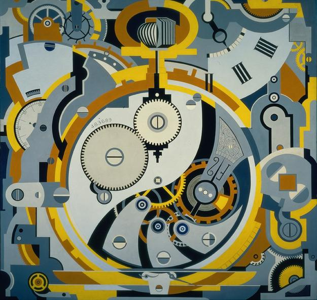 Gerald Murphy, Watch, 1925, oil on canvas, Dallas Museum of Art, Foundation for the Arts Collection, gift of the artists, 1963.75.FA, © Estate of Honoria Murphy Donnelly, Licensed by VAGA, New York, NY