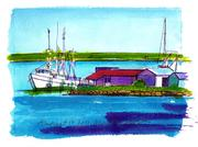 Fine Art Daily, Fishing Fleet in Fernandina Beach