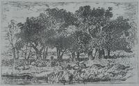 "Sketch of E.  M.  Bannister's ""Under the Oaks"""