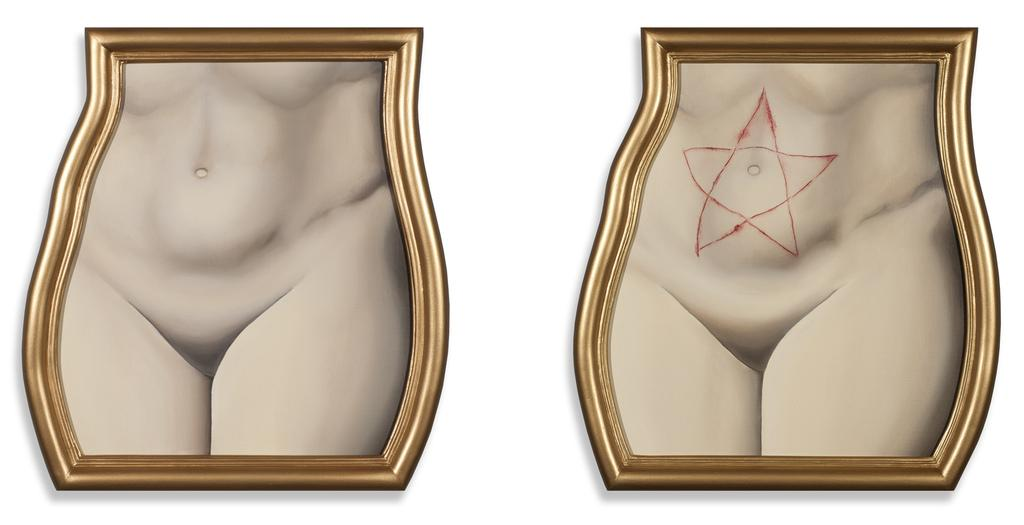 BRUCE RICHARDS BEFORE & AFTER, 2013-14 Oil on Canvas (diptych) Artist's Frames 19 x 17 ½ inches each