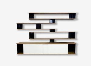 Bibliothèque Bookcase, 1957, Charlotte Perriand