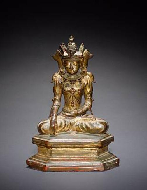 Buddhist Deity, possibly Avalokitesvara, The Bodhisattva of Compassion, 17th Century, given to Emma Harker by Mahatma Gandhi