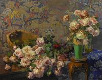 Franz Bischoff, Roses, 1912, brought a record-breaking $798,000 at Bonhams & Butterfields' Aug.  3 sale.