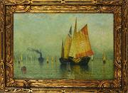 An 1882 Botto oil of the Venetian lagoon.