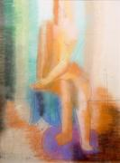 Seated Woman, Pastel #42