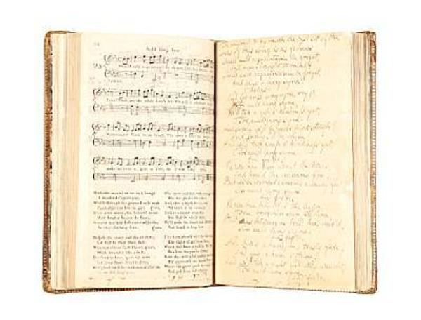 Robert Burns' Auld Lang Syne original manuscript and lyrics at Bonhams' auction in Edinburgh