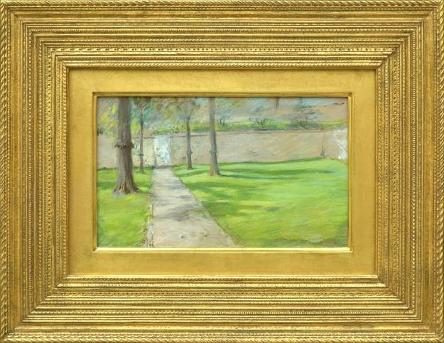 """A Bit of Sunlight"" by William Merritt Chase (1849-1916), ca.  1888; offered by MME Fine Art on CuratorsEye.com"