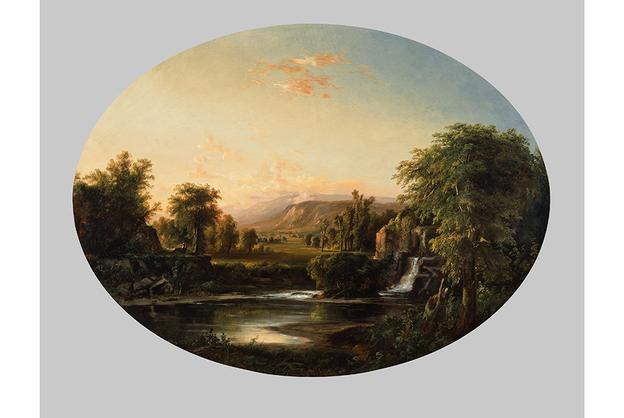 Robert S.  Duncanson (American, 1821–1872), Landscape with Waterfall, 1853, oil on canvas, Cincinnati Art Museum; Gift of The Procter & Gamble Company, 2003.58.