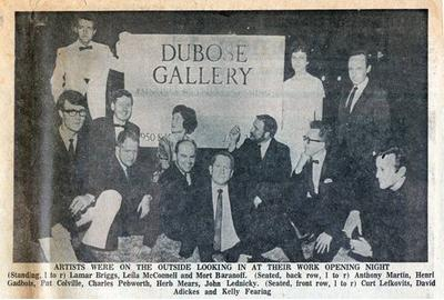 Clipping of Dubose Gallery Opening