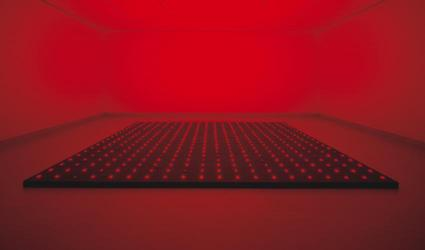 "Tatsuo Miyajima, ""Counter Ground,"" 1998–2000.  LED, electric wiring, and wooden panels.  Dallas Museum of Art, gift of the Friends of Contemporary Art."