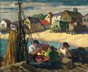 George Beline's Provincetown net-mending scene.