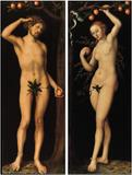 Lucas Cranach the Elder, Adam and Eve, oil on panel, pair, c.  1530.