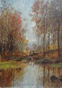 Jasper Cropsey Oil on Canvas