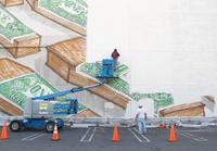 Blu's mural was commissioned and removed by the Museum of Contemporary Art.