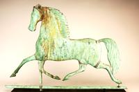 RJG Antiques,  Blackhawk Prancing Horse Weathervane Attr. To J. W. Fiske, New York, Ca. 1875