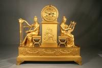 An Empire Gilt-Bronze Mantle Clock, circa 1810