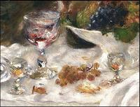 Detail of Renoir's 'Luncheon'. The Phillips Collection.