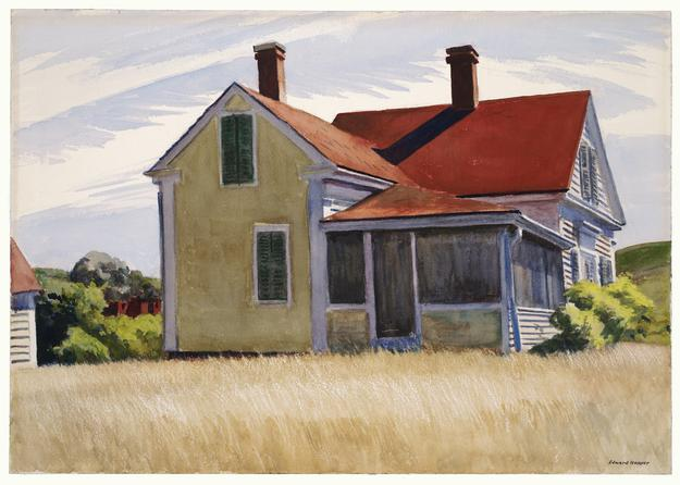 Edward Hopper (1882–1967) Marshall's House, 1932 Opaque and transparent watercolor over graphite on wove paper Wadsworth Atheneum Museum of Art, Hartford, CT; Purchased through the gift of Henry and Walter Keney, 1933.93 Wadsworth3