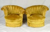 Image: Pair of 1940s Deco fan slip covered chairs sold in 2006 for $650