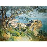 Frederic Arthur Bridgman (American, 1847-1928), The Rock of Monaco, Signed F.A. Bridgman (ll), Oil on canvas, 49 1/2 x 65 inches. Property from the Collection of Hugh J. Grant and Lucie Mackey Grant
