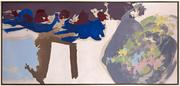 "Friedel Dzubas (1914-1994), ""Renewal,"" 1961, oil on canvas, 33 x 70 inches"
