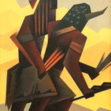 Ed Mell, Men of the Desert, 2014, oil on linen, 36 by 23 in