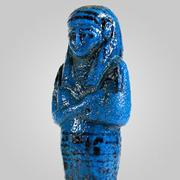 Egyptian Azure-glazed Royal Shabti for the Princess Nesy-Khonsu