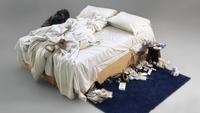 "Tracey Emin's ""My Bed"" sold for 2.5 million pounds at Christie's in London on July 1, 2014."