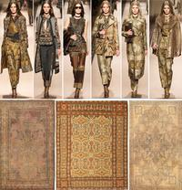 Etro Collection and Antique Persian Rugs