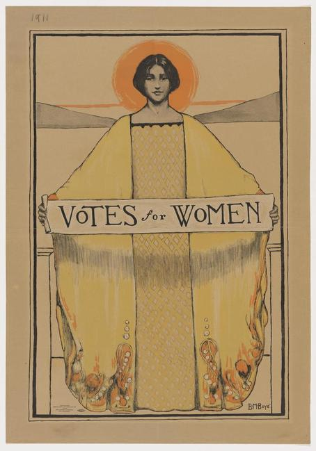 Votes for Women, B.M.  Boye, 1913.  Lithograph Sheet.  The Arthur and Elizabeth Schlesinger Library on the History of Women in America, Radcliffe Institute for Advanced Study, Harvard University