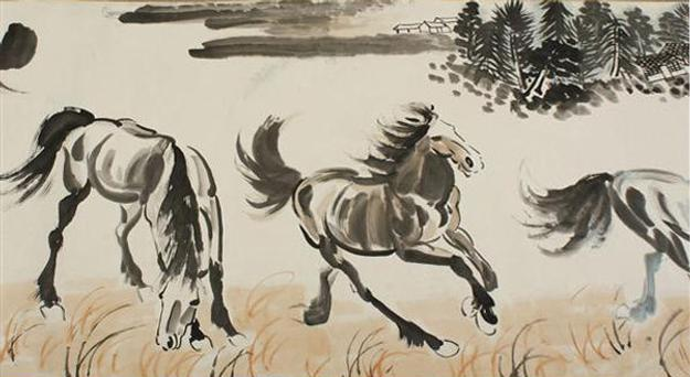 Xu Beihong (1895-1953) ink on paper scroll