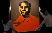 Andy Warhol's portriat of Mao Zedong brought 7.6 million pounds at Sotheby's.