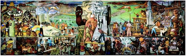 Diego Rivera, The Marriage of the Artistic Expression of the North and of the South on this Continent (Pan American Unity), 1940.  © Banco de Mexico Diego Rivera & Frieda Kahlo Museums Trust, Mexico D.F.  / Artist Rights Society (ARS), New York.  Image: courtesy City College of San Francisco.