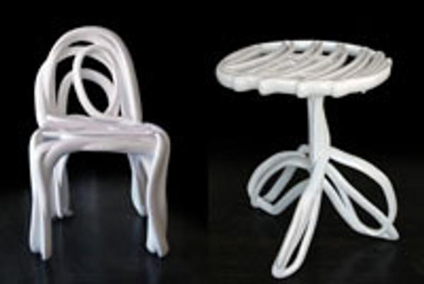"A round-back chair and table from the ""Sketch Furniture"" series (2005) from Stockholm's Front Design was acquired for the High's decorative arts and design department."