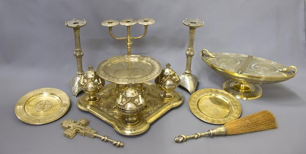 Orthodox silver liturgical set, part of the Imperial dowry of Grand Duchess Maria Alexandrovna Romanova