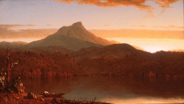 Sanford Robinson Gifford, A Lake Twilight, 1861, oil on canvas, private collection