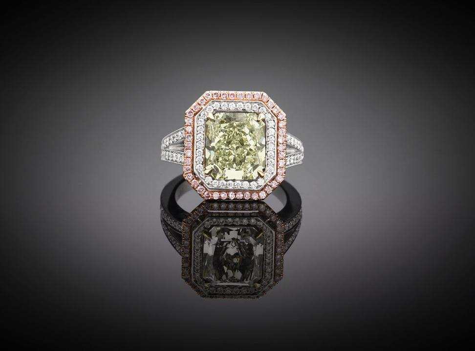 This astounding 4.05-carat Green Diamond is one of the rarest gemstones in the world