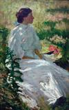 Charles Webster Hawthorne, (American, 1872-1930), A Study in White, n.d., oil on canvas, 36 x 22 inches, Reading Public Museum