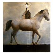 """Horse and House"" by Anke Schofield"