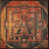 Vajradhâtu màndala, Tibet, 11th century.  Distemper on cotton.  125 x 125 cm.  Rossi & Rossi Stand no.  166 at TEFAF Maastricht 2014.