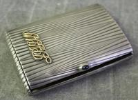 Faberge sterling silver cigarette case.
